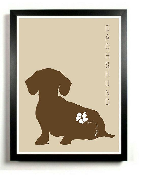 Dachshund Dog Art Print Modern