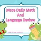 More Daily Math and Language Review: Language Review, Language Art, Back To School, 2Nd Grade