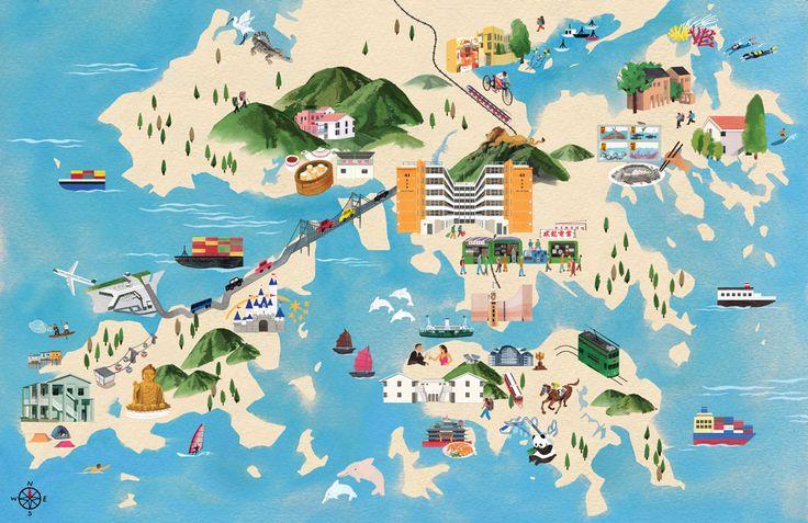 Hong Kong Tourist Map - 麥東記 DONMAK & CO.