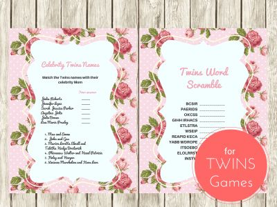 Twins Word Scramble Game, Celebrity Twins Names, Twin boys, Twin Girls, Baby Words Scramble Game, Celebrity Baby Names, Twins Names