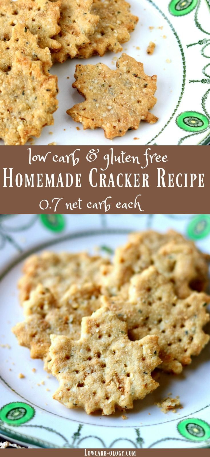 Simple low carb homemade cracker recipe is Atkins friendly and gluten free. Just 0.7 net carbs! http://lowcarb-ology.com via @Marye at Restless Chipotle