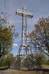 Mount Royal Montreal. giant cross.