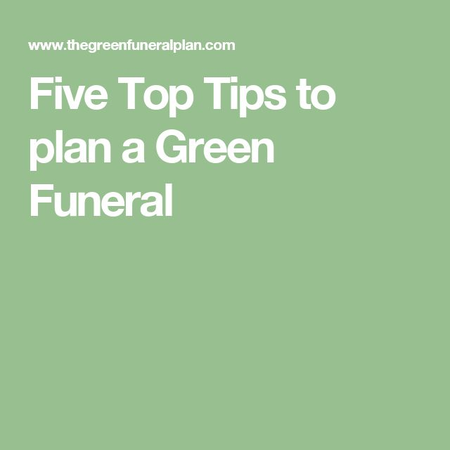 Five Top Tips to plan a Green Funeral