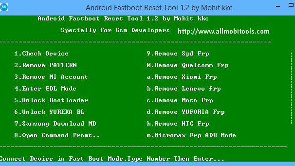 Android Fastboot Reset Tool v1 2 By Mohit KKC Full Setup Download