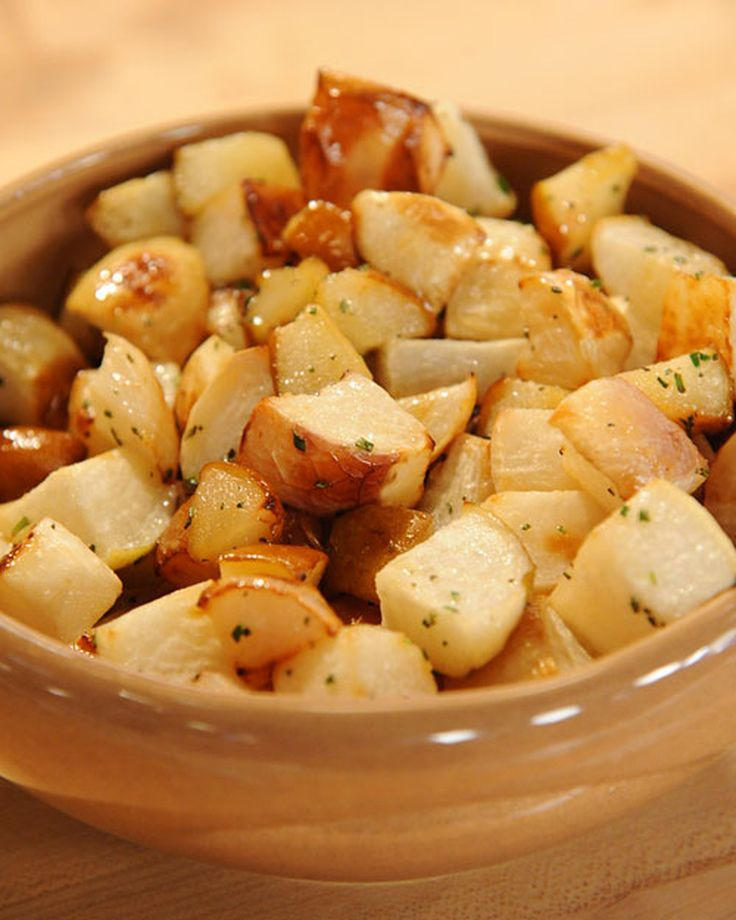 Topped with herb-laden honey butter, earthy turnips and seasonal pears make a memorable side dish.