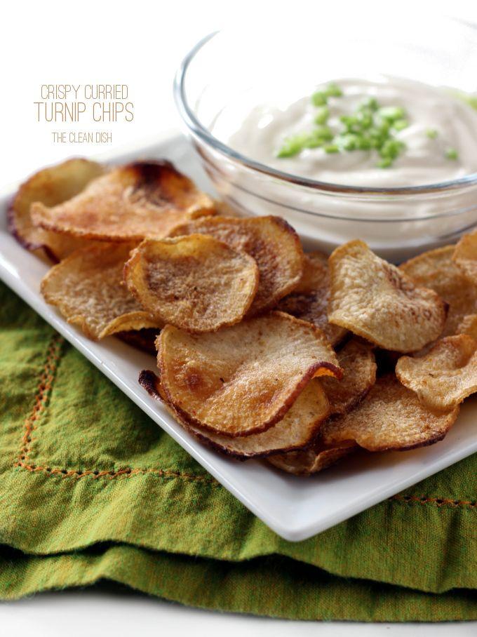 Crispy Curried Turnip Chips Recipe