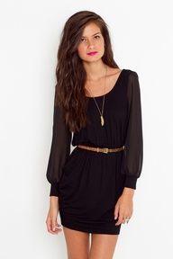 A simple black dress.
