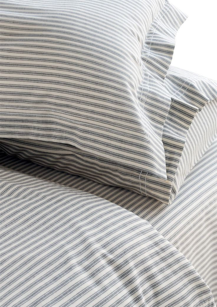 striped bed ticking