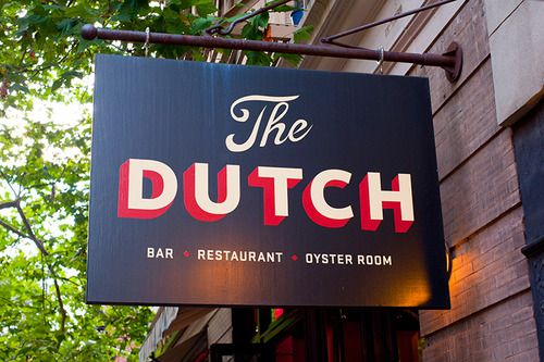 The Dutch - store front signage