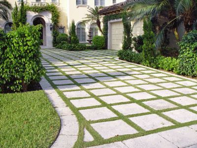 Nice Idea To Minimize Grass And Include Stone. Maybe Use To Extend Driveway  Garden Design Ideas: Landscaping Ideas Florida
