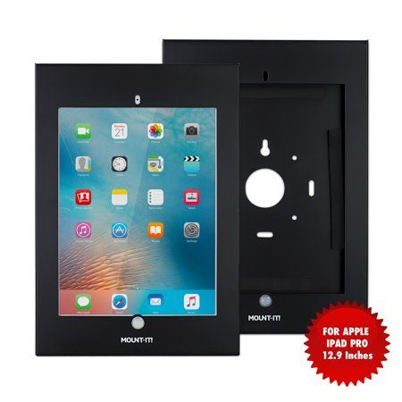 Mount It Locking Tablet Wall Mount Kiosk For Ipad Pro 12 9 Inch Screen Size Black Tablet Wall Mount Ipad Wall Mount Tablet