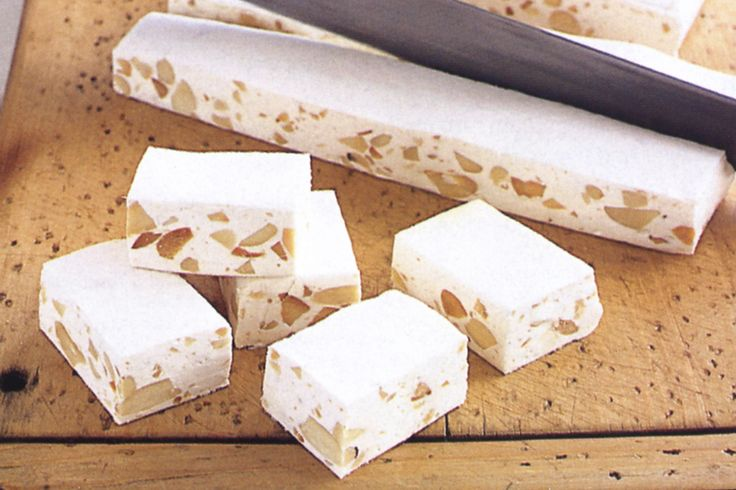 Christmas is coming, it cannot be denied, so get into the spirit by baking this delicious almond nougat - then keep them for your guests or package them up as food gifts that everyone will love.