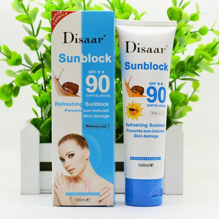 Улитка солнцезащитный крем крем 100 мл, Защиты Крем Для Лица Disaar SPF Солнцезащитный Крем 90 + + Защитный Крем Пигментации