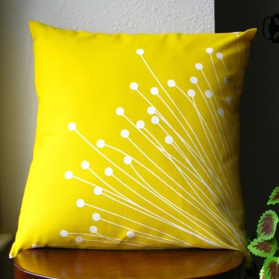Britta Yellow Pillow Cover by kristin813 on Etsy