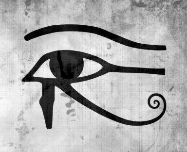 El ojo de Horus es un símbolo egipcio de protección y buena salud.
