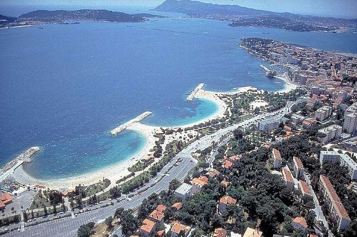 Toulon, Var, France.  I went diving off that first horse shoe shaped beach in 1986
