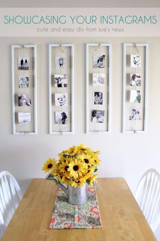 Dicas e truques para fotos e quadros pendurados - DIY exibe seus Instagrams - Passo a Passo Tutoriais e Projetos de Decoração Home DIY Fácil para Decorar Paredes - Idéias Cool Wall Art para Quarto, Sala, Paredes de Galeria - Ideias criativas e baratas para exibição de fotos e impressões - DIY Projects and Crafts by DIY JOY http://diyjoy.com/tips-hanging-photos-frames