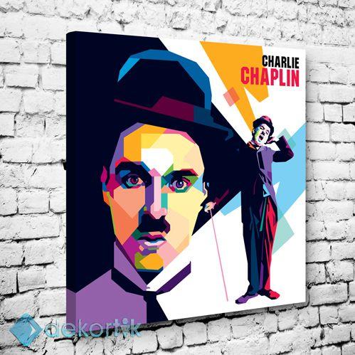 Chalie Chaplin Tablo V #pop_art_kanvas_tablo #ünlü_tabloları