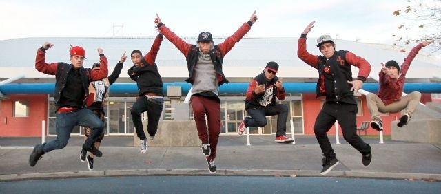 This photo makes me smile. The energy has been caught with great timing and active posturing by Australian dance troupe, Justice Crew.
