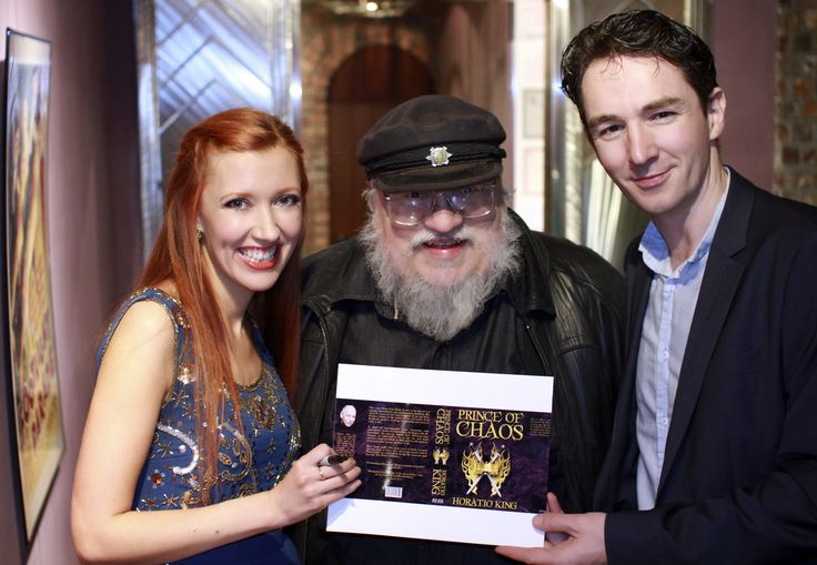 Amy-Joyce Hastings, George R. R. Martin, Graham Cantwell at the US Premiere of The Callback Queen, Jean Cocteau Cinema