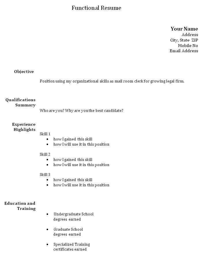 Las 25 mejores ideas sobre Functional Resume Template en Pinterest - examples of functional resumes
