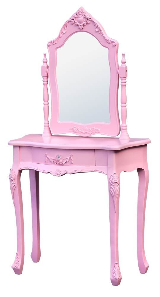 Boudoir French Pink Dressing Table With Mirror from our website www.uniquechicfurniture.co.uk