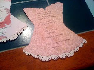 Pinkie and The Bean: Lingerie shower invites...oh, how I wished for a Cricut.