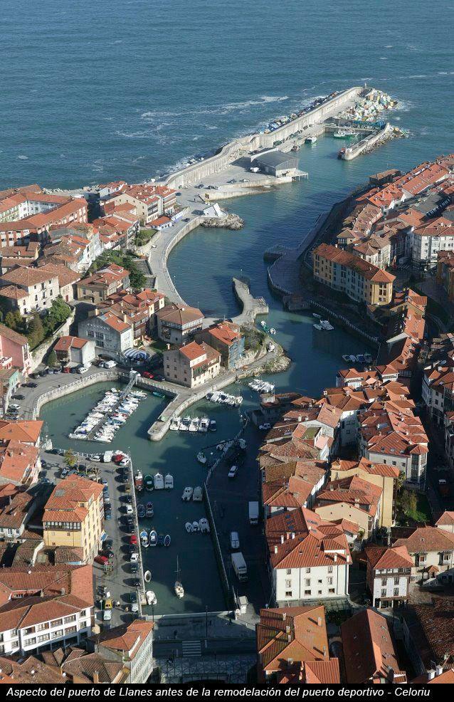 Aspecto del puerto de Llanes (Asturias) antes de la remodelación del puerto deportivo - Foto de Celoriu.com
