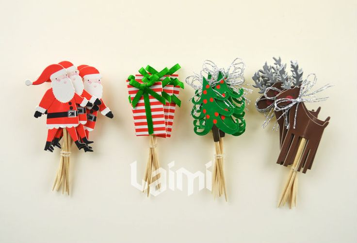24 pcs de natal papai noel de árvores de coco do Cupcake , crepúsculo faísca pôneis casamento favores do partido em Decoração de natal de Casa & jardim no AliExpress.com   Alibaba Group