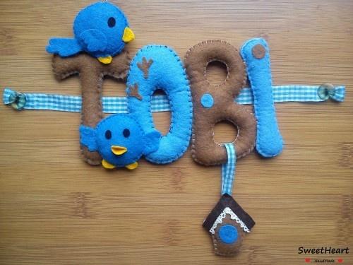 Filcowe Literki dla Dziecka - Felt baby name: Baby Names, Felt Baby, Craftsfun Projects