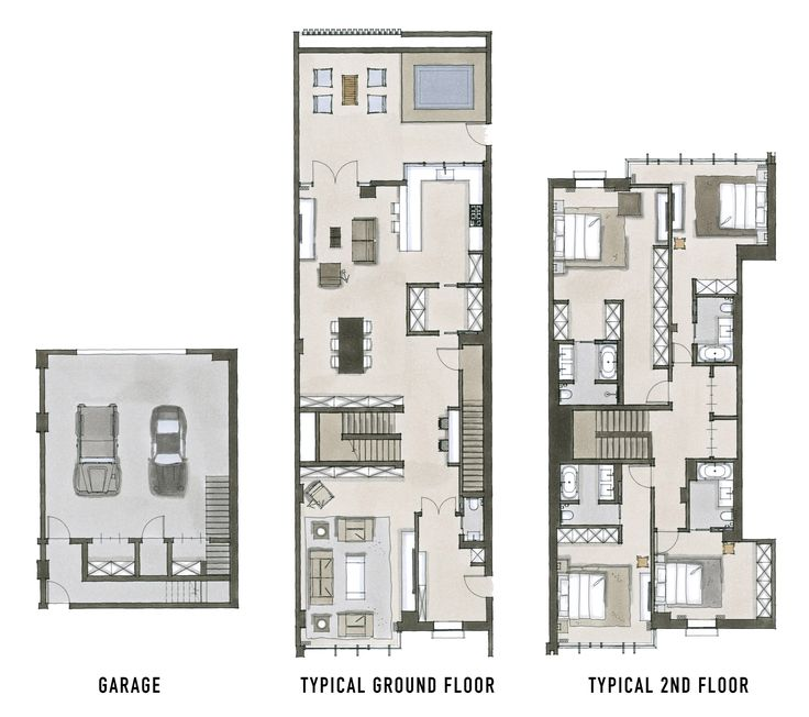68 best townhouse duplex plans images on pinterest for Townhouse plans and designs