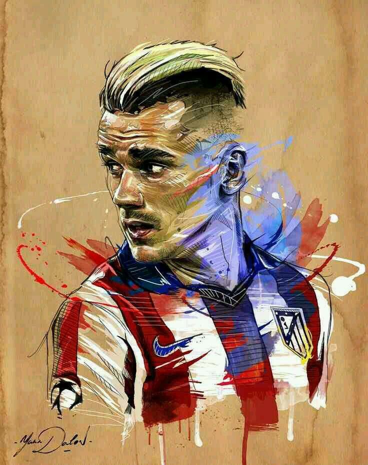 Antoine Griezmann of Atletico Madrid & France wallpaper.