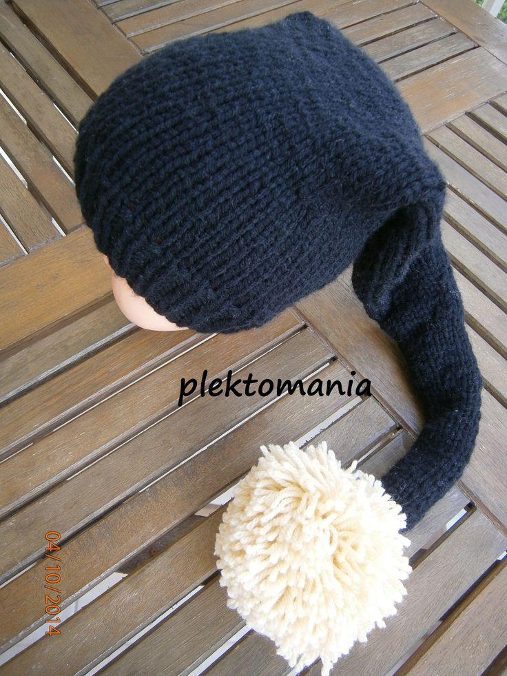crochet hat with  giga pom pom https://www.facebook.com/plektomania25