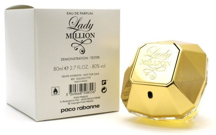 Lady Million by Paco Rabanne Eau De Toilette For Women 80 ML in White Tester Box