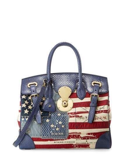 Ralph Lauren American Flag Ricky Bag, Red/Blue    https://api.shopstyle.com/action/apiVisitRetailer?id=537681512&pid=uid2500-37484350-28