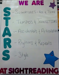 Musings of a Middle School Music Educator: We are STARS at Sightreading