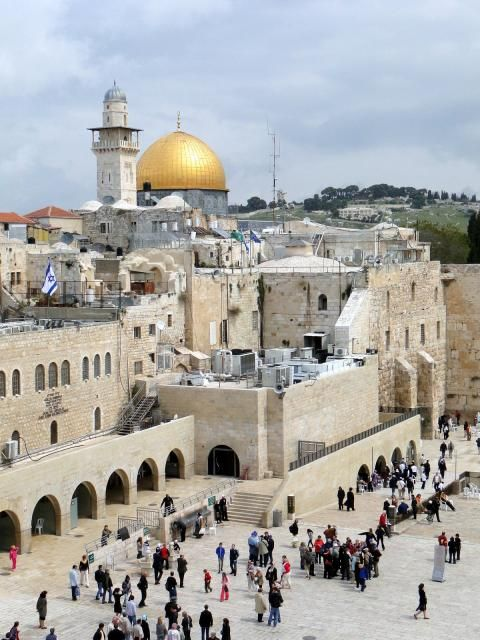 The Old City, the Wailing Wall, the Church of the Holy Sepulcher, the Dome of the Rock, Jerusalem, Israel.