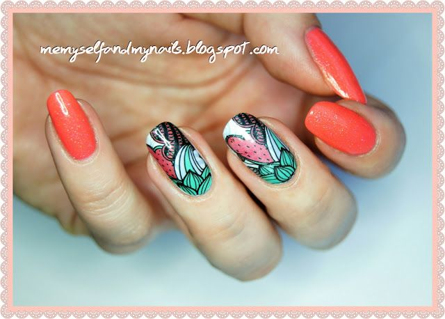 me, myself and my nails: Abstrakcyjny arbuz - BPS water decals review ( BP-...