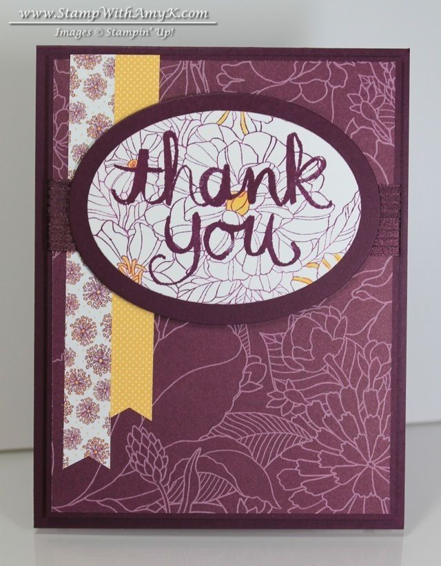 Watercolor Thank You - Stampin' Up! - Stamp With Amy K