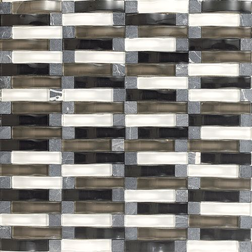 Daltile Intertwine Power Blend F175 Glass Mosaic Tile