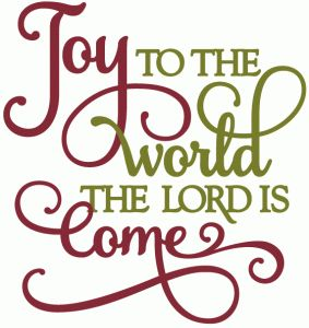 Silhouette Design Store - View Design #51169: joy to the world - vinyl phrase