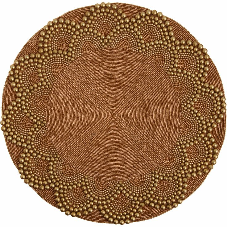 Round Placemats Beaded Kim Seybert Beaded Placemat