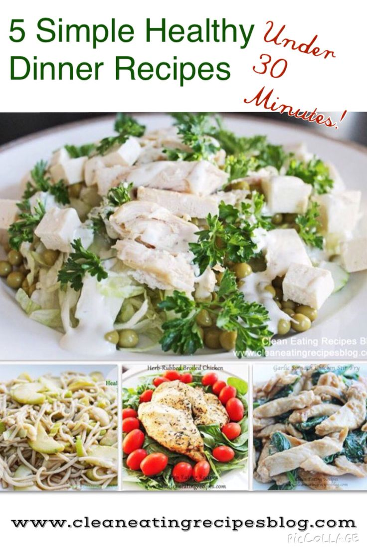 Easy healthy meals and clean eating recipes from 5 simple healthy dinner recipes .. Tweak if / where necessary for THM / Low Carb