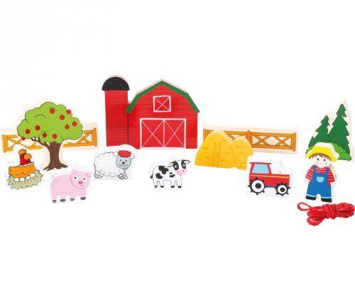 Φάρμα κε κορδόνια/ Farm threading play set