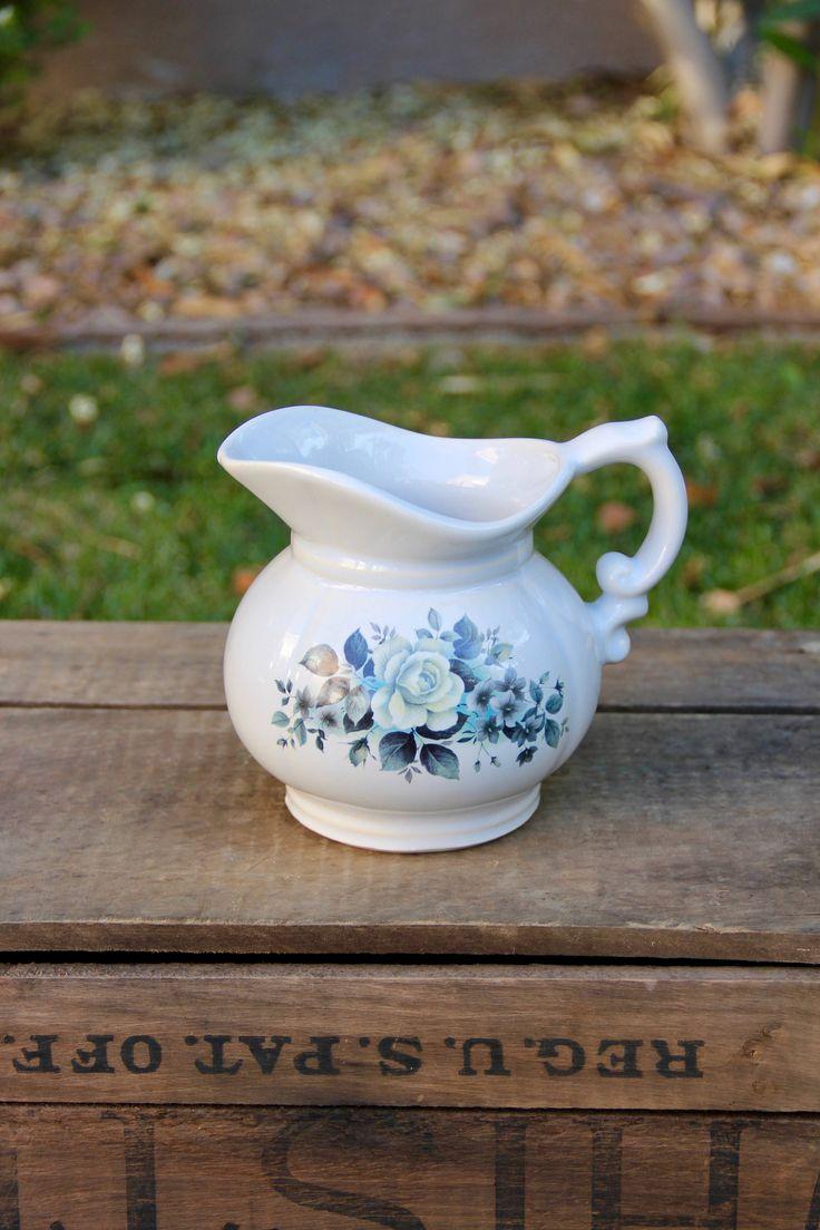 McCoy Pottery - Vintage McCoy - McCoy Pitcher - Floral Pitcher - Vintage Floral Pitcher - USA Pottery - Mid Century Pitcher - Vintage Potter by SheLikesVintageCo on Etsy