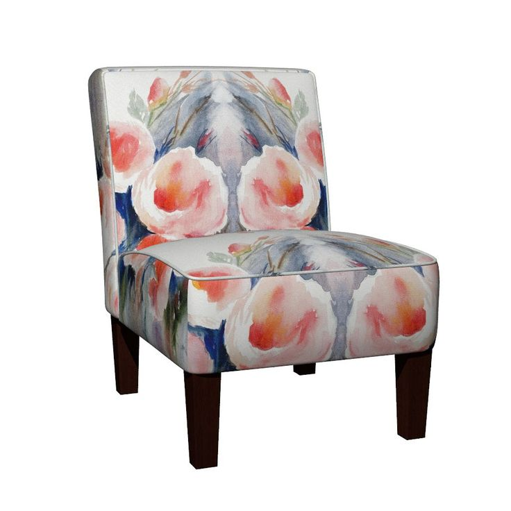 Maran Slipper Chair featuring Roses in the Rain by wildflowerfabrics | Roostery Home Decor