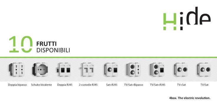 Hide è in vendita in abbinamento ai frutti. Su richiesta sono disponibili anche prese con standard francese, tedesco, svizzero, statunitense, israeliano, argentino ed euro-americano. http://www.4box.it/it/ https://facebook.com/4boxsocial #4box #hide #presa #presaascomparsa #hidestore #socket #elettricità #arredamento #soluzione #electricrevolution #electricrev #style www.hidestore.it/