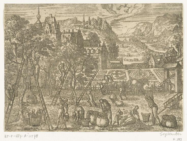September, Pieter van der Borcht (I), 1545 - 1608