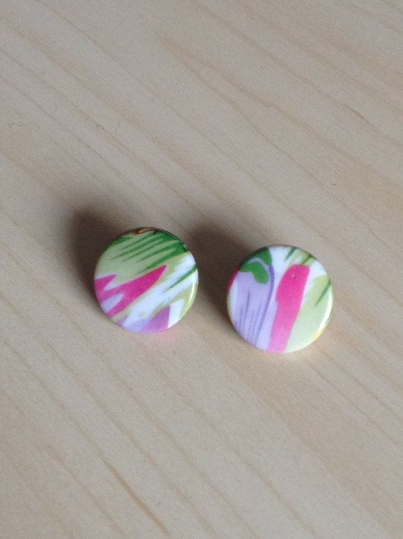 clip-on earrings plastic multicolour gifts by TSColorfulWorld