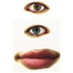 Eyes Mouth temporary tattoo design - 2x3 inch